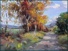 Watercolor Landscape, Landscape Art, Landscape Paintings, Watercolor Art, Watercolor Painting Techniques, Autumn Scenery, Impressionist Art, Cool Paintings, Fall Pictures