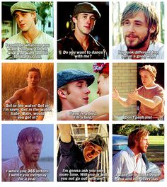 He makes me happy <3 The Notebook <3 <3