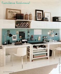 I would like to do something like this as a HW area for my kids