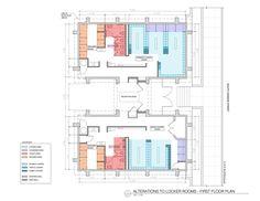 Locker Room Floor Plan Showing Circulation And Adjacent