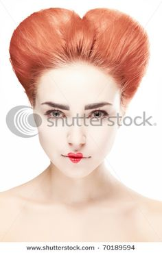 hair inspiration for queen of hearts ;)