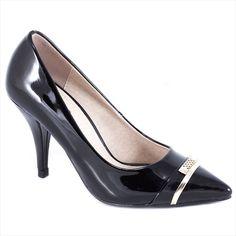 Pantofi negri cu toc 51842N - Reducere 60% - Zibra Pumps, Heels, Fashion, Heel, Moda, Fashion Styles, Pumps Heels, Pump Shoes, High Heel