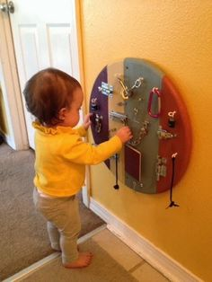 The Yellow Crib: Latch it Up! Used a table top from Lowes