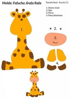 Baby Shower Ides Safari Giraffes 46 Ideas For 2019 Jungle Theme Birthday, Jungle Party, Safari Party, Felt Animal Patterns, Stuffed Animal Patterns, Baby Shawer, Animal Crafts, Felt Toys, Felt Animals
