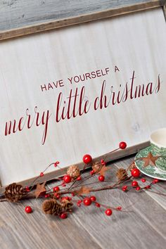 "Love the look of a rustic wood farmhouse Christmas sign? This FREE Christmas SVG makes it easy to DIY your own for that handmade look! Learn tricks to sticking vinyl on wood. Adjustable file means you can make your wooden sign large, small, short or tall or even just use for a printable. Use your Cricut or other cutting machine to cut ""have yourself a merry little christmas"" and paint or apply the vinyl to any wooden surface for that cute country holiday look! #Christmascrafts #FREESVG…"