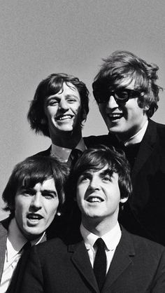 Black & white Beatles iPhone 5 wallpaper