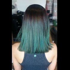 """Awesome Kylie Jenner style creative colour with green ombre for girls Elumen hair by Ricky C - at R&B Haircraft in Melbourne, Australia         """"A picture is a poem without words.""""  9874 6047  Colourist: Ricky C  #style #Melbourne #hair #Qaba #rnbhaircraft #moreawesome  #sharkie #ootd #grunge #greenhair"""