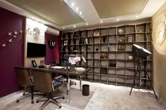 O arquiteto Márcio Sarmento Netto é quem assina o Escritório do Dono da Ca...