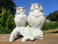 Vintage Owl Figurine / Statue Two Owls Marked OMC by KathiJanes, $8.95