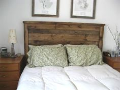 Reclaimed Wood Headboard. Can I make this with Pallets?!?!