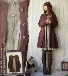Rakuten: Shirt-dress of the good quality linen cotton which was particular about the * material that the lei yard of the dot pattern to show in the forest girl shirt dress dot inside in one piece summer was lovely mature- Shopping Japanese products from Japan: