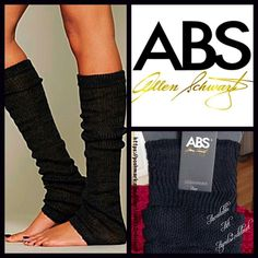 ABS Black Leg Warmers  NEW WITH TAGS   ABS Black Leg Warmers * Ribbed tops & subtle ruffle detail.  * Ideal for layering; Lightweight & comfortable. * Will fit in or over most boots & shoes. * Tagged one size fits most. * Super soft crocheted knit fabric; Stretch-To-Fit Style   Fabric: 100% Acrylic; Machine Wash Cold Color: Black ✅ Bundle Discounts ✅ No Trades  ABS Allen Schwartz Accessories Hosiery & Socks
