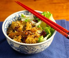 Slow cooker hoisin chicken, bok choy and sesame brown rice bowl recipe; you must check out the trick for cooking the bok choy in this recipe!  {The Perfect Pantry}