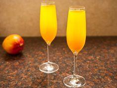 Mango-Peach Champagne Cocktail #NYE