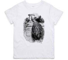 El Cheapo Perched Peacock (Black) Toddler White T-Shirt