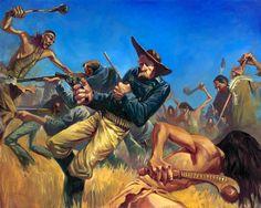 "Gabe Leonard ""Battle of Little Big Horn"" 2010 Oil on Canvas 48 x 60 inches Original Art http://distinctionart.com"