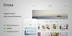 Download and review of Cross - An Elegant Minimal WordPress Theme, one of the best Themeforest Creatives themes