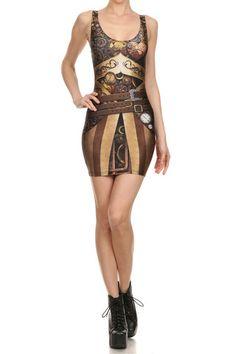 Steampunk Bodycon Dress