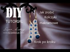 Tutorial - długie kolczyki makramowe. DIY macramé earrings. Largos pendientes de macramé - tutorial - YouTube