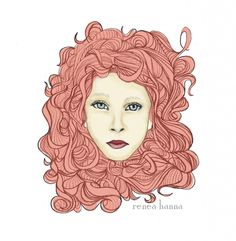 the red head. an original illustration by renea hanna.
