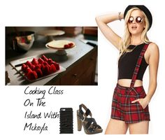 """""""Cooking Class On The Island With Mckayla"""" by britneygeminigirl ❤ liked on Polyvore featuring Forever 21, Madison Harding and Moschino"""