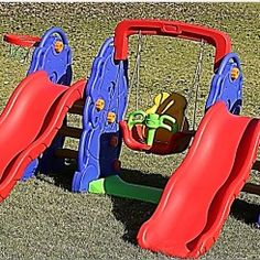 Buy Plastic Jungle Gyms and Slides for Toddlers at Green Air Equipment. Our plastic jungle gyms are loaded with features perfect toddlers and small children Kids Fun, Cool Kids, Swing And Slide, Jungle Gym, Kids Playing, Playground, Blueberry, Children, Green