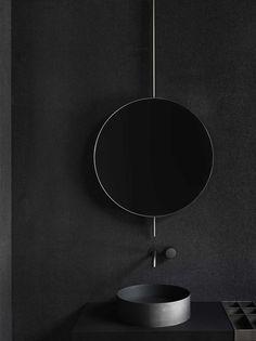 Mirror elements, 2017 Boffi Photo by Tommaso Sartori - . Mirror elements, 2017 Boffi Photo by Tommaso Sartori – Black Bathroom Taps, Dark Bathrooms, Modern Bathroom, Bathroom Sinks, Washroom, Small Bathroom, Bathroom Wall, Boffi, Dark Interiors