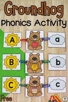 This Groundhog Beginning Sounds Activity is a hands-on way for beginning readers to practice identifying initial sounds.
