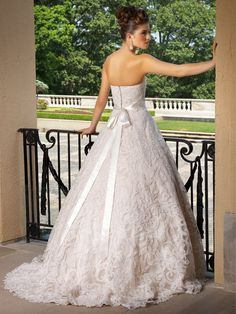 Pearl Bridal Gown   www.ForTheBrideMag.com Bridal Wedding Dresses, Bridal Style, Pearl Bridal, A Line Gown, Lace Overlay, Ivory White, Beige, Ball Gowns, Scalloped Hem