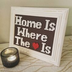 Home is where the Heart is - Quote hama beads by teizu_