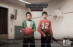 """Choose One"" campaign for Gun Sense in America. Great. And making me shake my head ..."