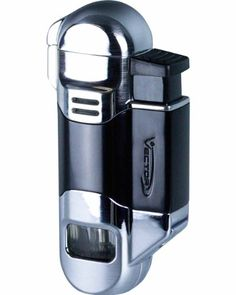 "Vector 07 Radar Triple Flame Cigar Lighter |  Triple torch flame. Quartz powered ignition. Single action ignition. Automatic burner cover. 8mm cigar punch. Large fuel level window. Generates enough heat to light your #cigar up to 1"" away. Ships in an attractive gift box. No proof warranty. #FathersDay #Lighter #Cigars Cigar Lighters, Burner Covers, Cool Tools, Cigars, Hand Carved, Punch, Swag, Ships, Quartz"