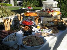 Beautiful spread of delicious Classis Catering food I http://eventsbyclassic.com