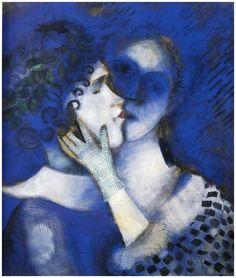 """Marc Chagall, """"Les amants en bleus"""". Veja também: http://semioticas1.blogspot.com.br/2012/12/inventando-abstracao.html"""