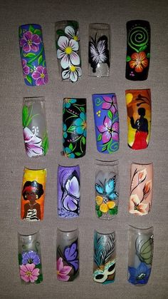 French Tip Nail Designs, Natural Nail Designs, French Tip Nails, 3d Nail Art, 3d Nails, Toe Designs, Nail Art Designs, Flower Nail Art, Natural Nails