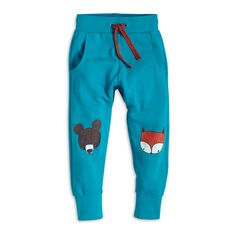 Sweat Pants with Print, Turquoise, New In, Kids | Lindex