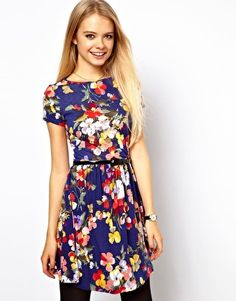 ASOS Skater Dress In Large Floral Print - this site will be the death of my bank account