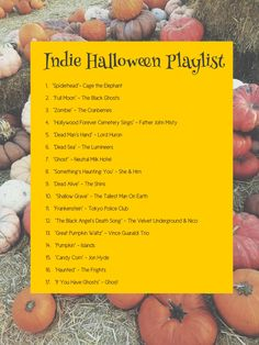 Just in case you're sick of hearing Monster Mash, here's a playlist of some songs that are not necessarily Halloween-y, but definitely have a Halloween themed title. Happy Halloween, Halloween Music, Halloween 2019, Holidays Halloween, Halloween Crafts, Halloween Decorations, Halloween Quotes, Halloween Movies List, Halloween Bedroom