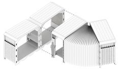 Accordion-like SURI shelters provide rapid emergency housing for refugees