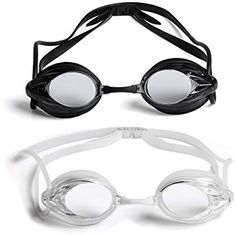 eb1ae77ada6 2 Pack  The Friendly Swede Swim Goggles for Adults with Interchangeable  Nose Pieces and Protective