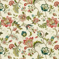 Sophisticated Jacobean floral in bright classic shades of blue. This jacobean blue floral fabric is available by the yard and on most Loom custom furnishings. Floral Curtains, Drapery Fabric, Floral Fabric, Blue Fabric, Floral Prints, Window Curtains, Drapery Panels, Fabric Flowers, Poster Mural