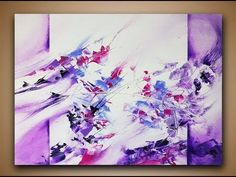 Abstract Painting DEMO 20 / Easy abstract art / How to paint / painting techniques - YouTube