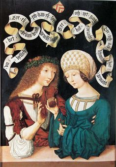 detail from lovers from Gotha, Housebook Master (? Germany this image is also on the cover of our Medieval lovers book. need to look up the credits in there. Renaissance Fashion, Renaissance Clothing, Renaissance Art, Medieval Costume, Medieval Dress, Medieval Life, Medieval Art, Historical Costume, Historical Clothing