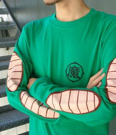 [Close] Dragon Ball Z Piccolo Long Sleeve T-shirt T-shirt Green M (Anime Toy) Item picture2