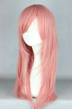Tienda Online Pretty Womens Hair Cosplay Anime HitmanReborn-Bianchi Rosa  Peluca Larga Sintética Del Traje de Boda 30d3ba589537