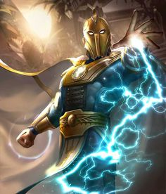 Doctor Fate from Injustice 2 Mobile Doctor Fate 2 Dc Comics Heroes, Arte Dc Comics, Dc Comics Characters, Marvel Heroes, Sailor Moon S, Living Tribunal, Mighty Power Rangers, Dr Fate, Justice League Dark