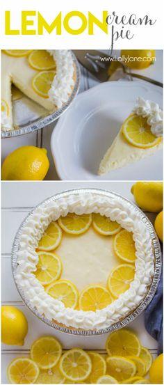 Lemon cream pie reci