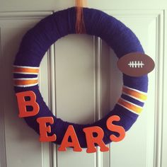I want to make a Chicago Bears Wreath! this one is from etsy though...