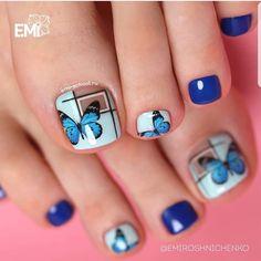 Ideas gel manicure designs short nails nailart for 2019 Gel Manicure Designs, Pedicure Nail Art, Toe Nail Art, Pretty Toe Nails, Cute Toe Nails, My Nails, Diy Sharpie, Purple Gel Nails, Cute Nail Art Designs