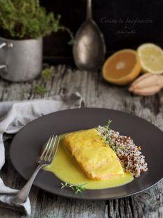 salmón en salsa Salmon En Salsa, I Foods, French Toast, Low Carb, Breakfast, Ethnic Recipes, Presentation, Diy, Inspiration